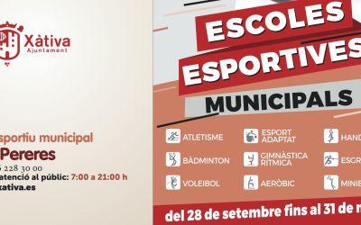 Les escoles esportives municipals, l'esport per a adults i les activitats a la piscina tornen a Xàtiva