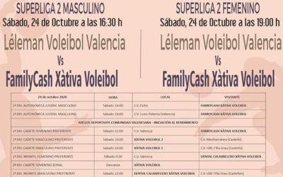 El CV Xàtiva afronta un doble enfrontament contra el Leleman Valencia en la SuperLliga2