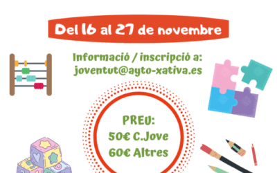 La regidoria de Joventut de Xàtiva organitza un curs d'Aula Matinal
