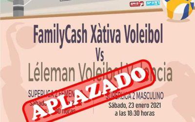 El CV Xàtiva ajorna els partits dels seus equips de SuperLliga2