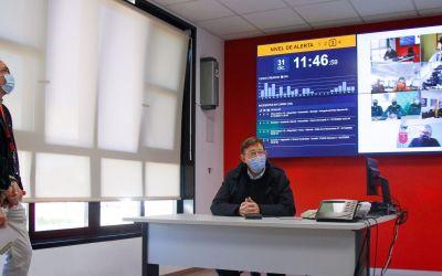 Ximo Puig agraeix al personal de seguretat i emergències el seu treball  'en un any especialment difícil'