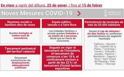 Hui entren en vigor les noves mesures autonòmiques per fer front a la COVID-19
