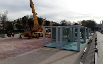Educació comença a habilitar les aules prefabricades per a la construcció del nou institut Francesc Gil a Canals