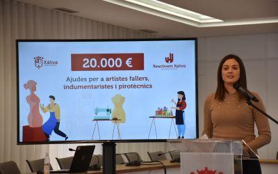 L'Ajuntament de Xàtiva llança una línia d'ajudes urgents als negocis vinculats a les falles
