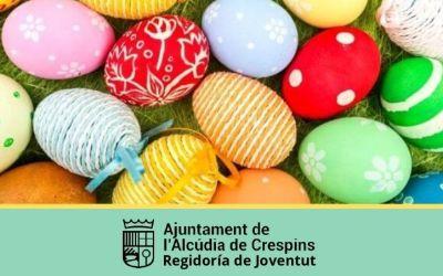 L'àrea de Joventut de l'Alcúdia de Crespins convoca un concurs de decoració d'ous de pasqua