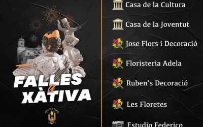 Disponibles les banderes de les Falles de Xàtiva en diferents punts clau de la ciutat