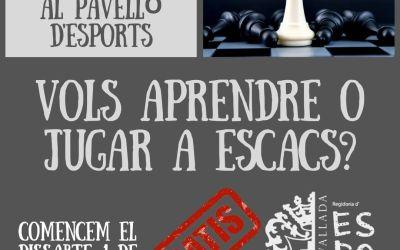 La regidoria d'Esports de Vallada aposta pels escacs