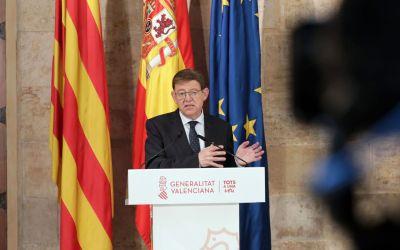 Ximo Puig anuncia que les ajudes del Pla Resistir Plus s'ampliaran a 80 noves activitats econòmiques