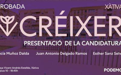 La candidatura Créixer de Ione Belarra organitza un acte de campanya a Xàtiva