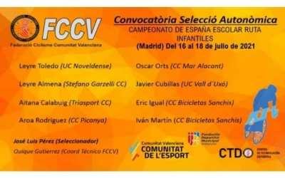 Dos ciclistes de l'Escola Bicicletas Sanchis seleccionats per als Campionats d'Espanya