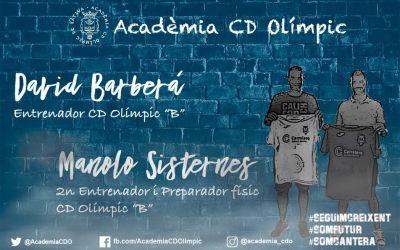 L'Olímpic posa al seu filial en les mans de David Barberà i Manolo Sisternes