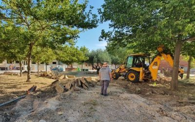 El Taller d'Ocupació de Moixent inicia les obres del parc de l'Avinguda Bellús