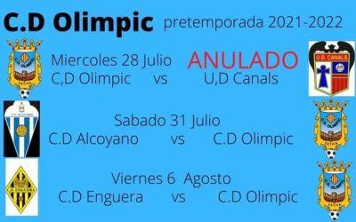 El CD Olímpic comunica la suspensió de l'amistós contra la UD Canals