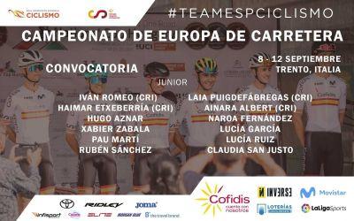 Pau Martí entra en la convocatòria de la Selecció Espanyola per al Campionat d'Europa de Ciclisme en Carretera