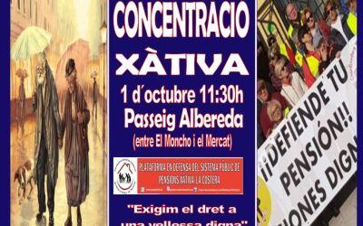 La Plataforma de Pensionistes de Xàtiva – la Costera organitza un nou acte amb motiu del Dia Internacional del Major