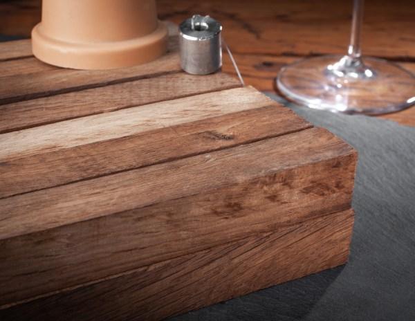 Winemaking medium French oak on a rope