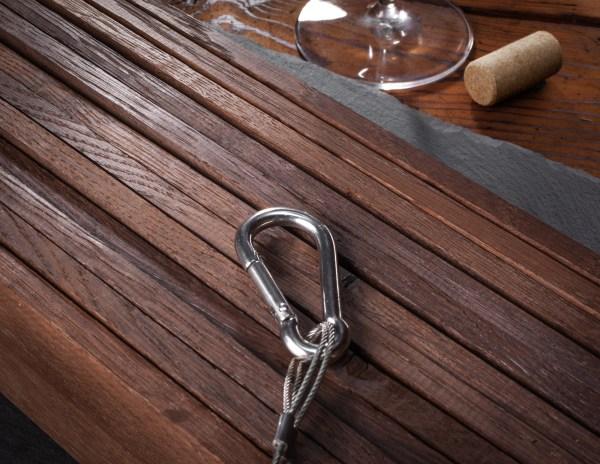 Winemaking medium plus French oak stave fan