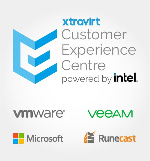 The Xtravirt Experience Centre powered by Intel - Proof of concepts performance benchmarking and consultant demonstrations - try VMware, Microsoft Veeam and Runecast