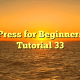 WordPress for Beginners 2015 Tutorial 33