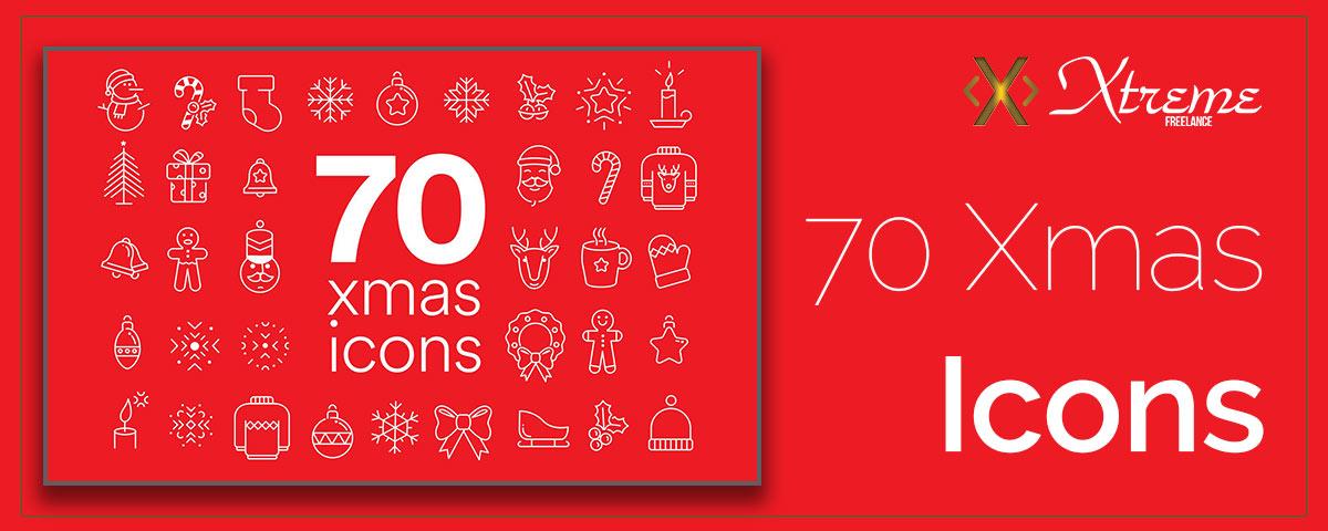 70 Xmas Icons free