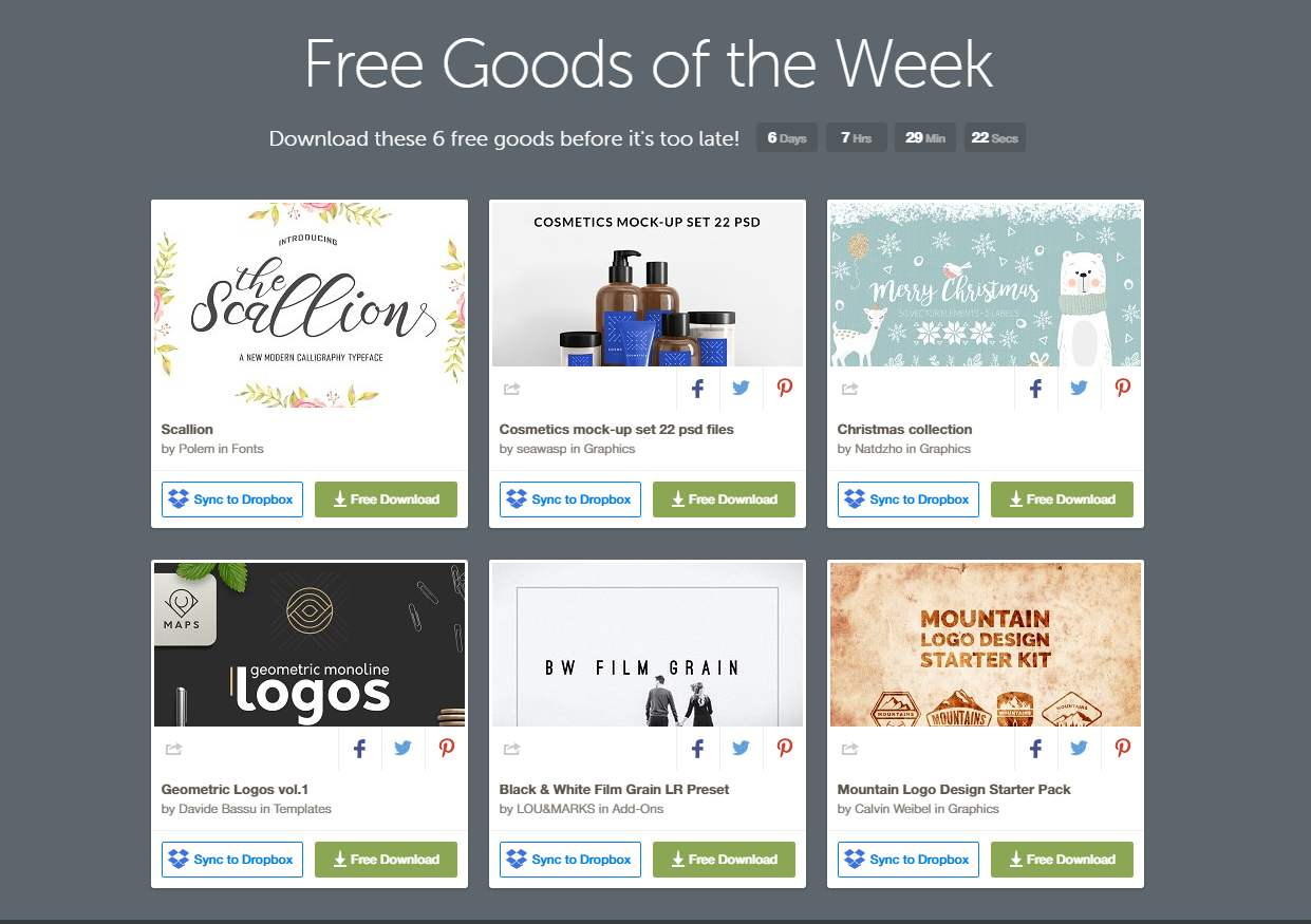 Free Goods Of The Week – Creative Market – Oct. 31