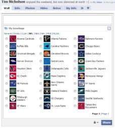 My Greetings - NFL Team Icons