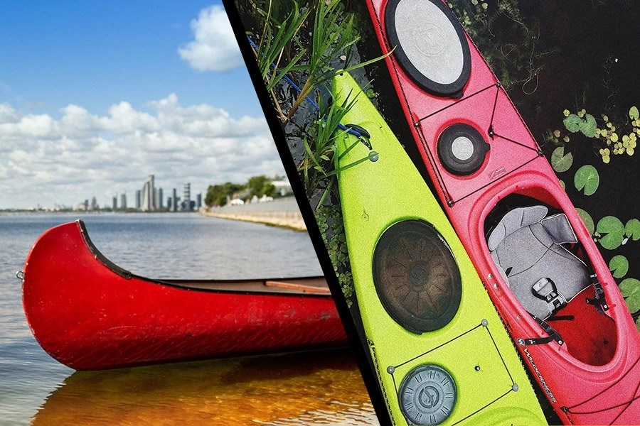 canoe vs kayak - thumb