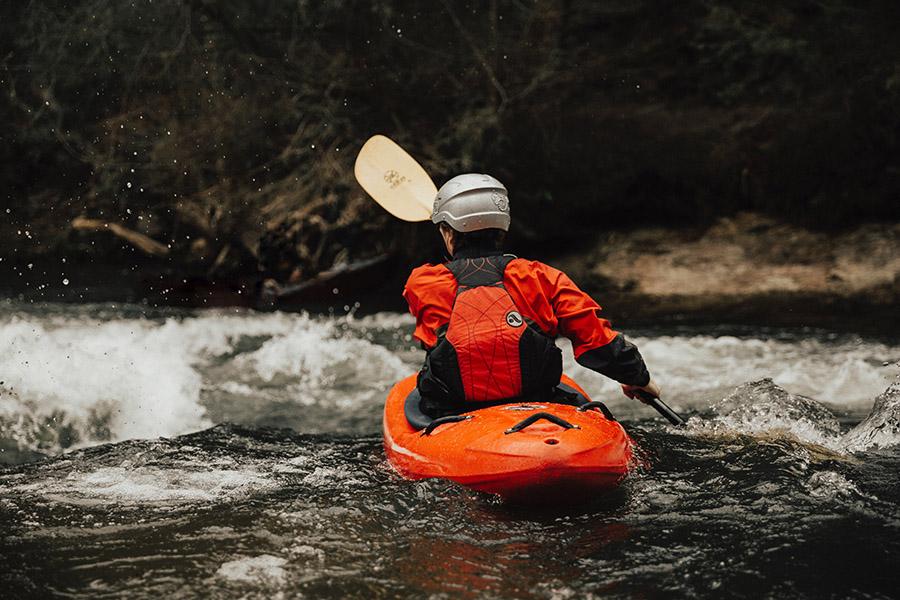 Kayaking upstream - Thumb