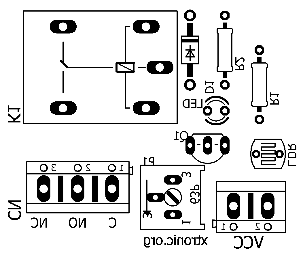 Module Circuit Light Sensor With Ldr Light Dependent