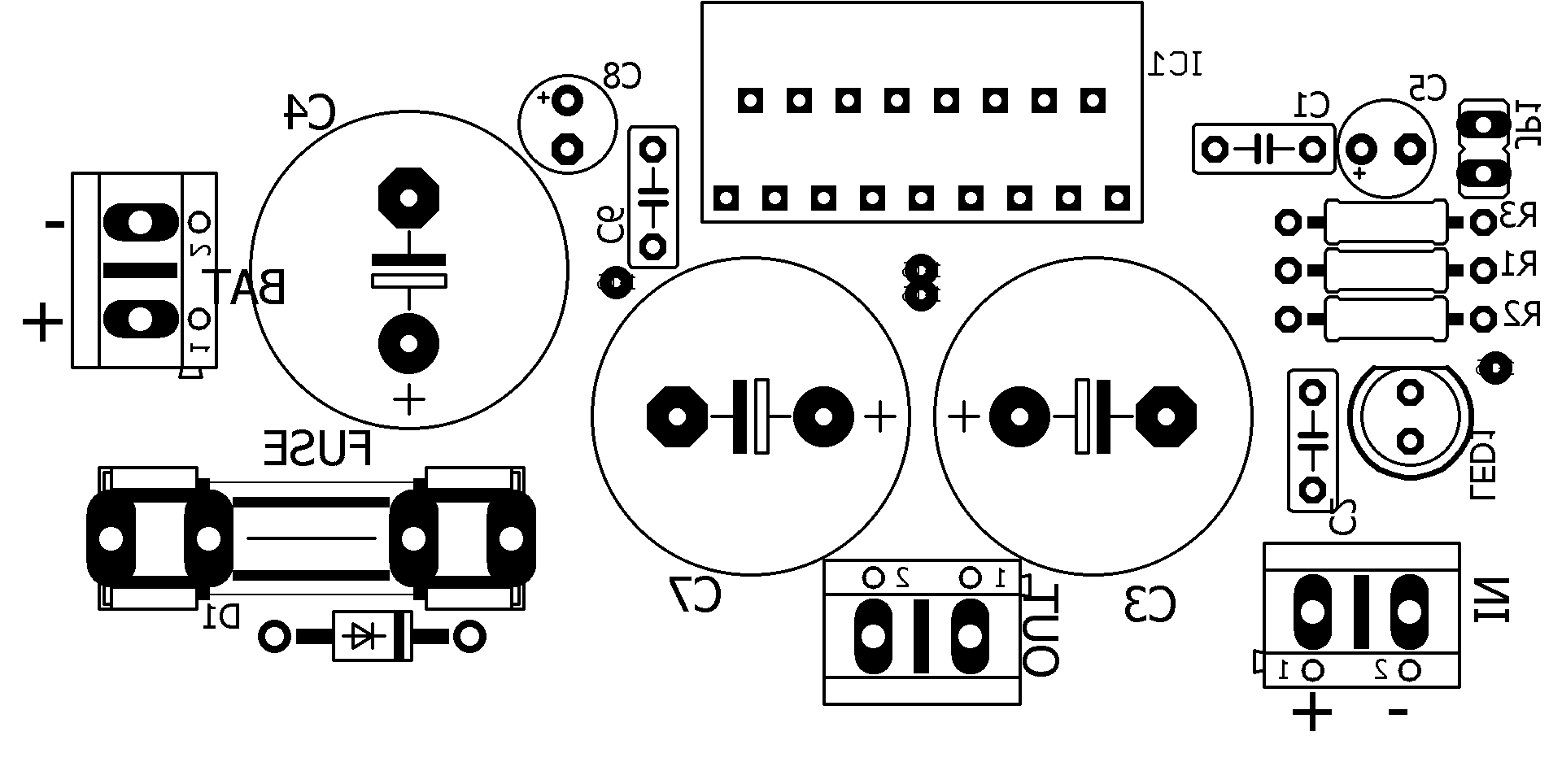 Tda Amplifier Audio Silk Suggested Printed Circuit