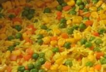 Receita de Arroz com Legumes e Açafrão