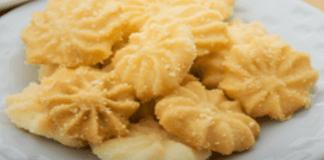 Receita de Biscoitos amanteigados açucarados no micro-ondas