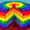 Bolo Arco iris em Camadas