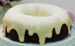 Receita de Bolo Vulcão de Chocolate e leite ninho