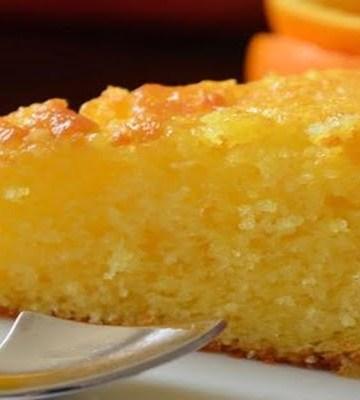 Receita de Bolo de laranja sem lactose sem ovos e sem soja