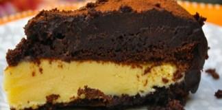 Receita de Bolo gelado de chocolate com recheio de maracujá