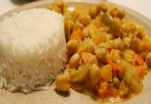 Receita de Caril Vegetariano