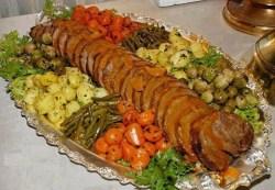 Receita de Carne Assada Pelúcia e Sautes de Legumes