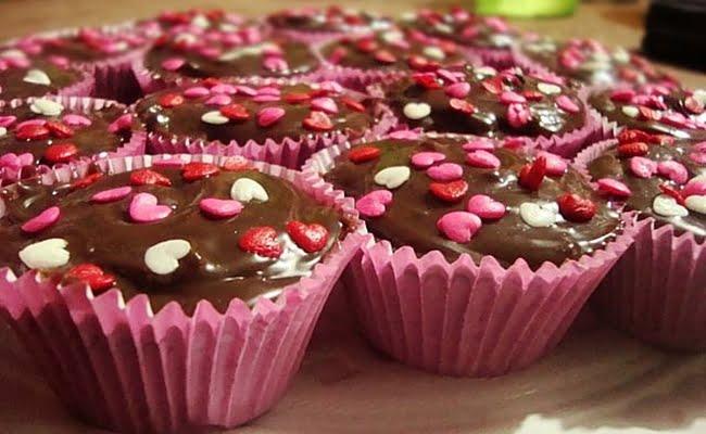 Receita de Cupcake de Nutella