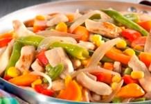 Receita de Frango com Legumes