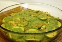 Receita de Legumes ao molho de hortelã