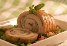 Receita de Lombo de porco assado com vinagrete de vagem