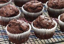 Receita de Muffin de Chocolate e Banana
