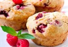 Receita de Muffins de framboesa