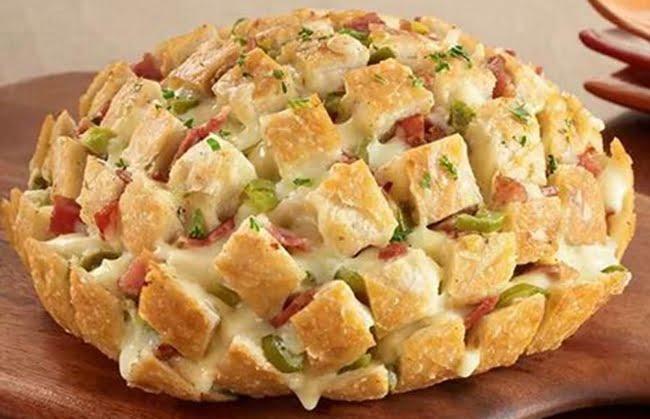 Receita de Pão Italiano de Alho com Bacon
