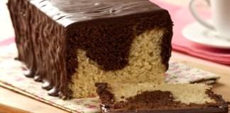 Receita de Pão bicolor de chocolate com baunilha de liquidificador