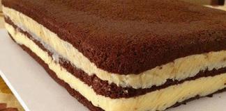 Pão de Ló de Chocolate com Recheio de brigadeiro branco