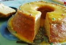 Receita de Pão de ló com molho de laranja