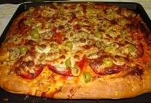 Receita de Pizza Camponesa Alta e Fofa