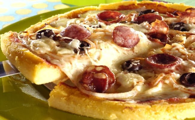 Receita de Pizza de Polenta